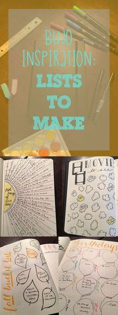 practical and reflective bullet journal list inspiration