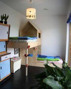 Kinderhochbett für zwei  Etagen Hochbett für Mädchen Rutsche | Kinderzimmer | Pinterest