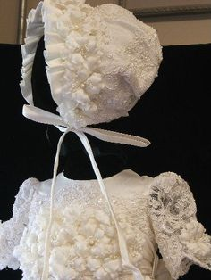 Angela West Christening gown set SELWYN white  by angelawesthgowns, $449.00