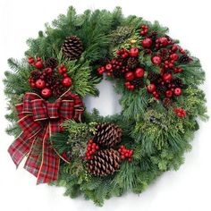 Country Christmas Wreath #Home