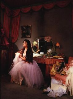 Sarah Brightman as Christine Daae in her dressing room
