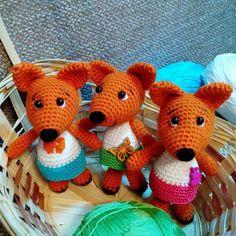 Pequeño patrón de crochet de zorro