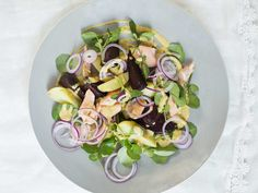 Diana Henry's recipe for a warm winter salad of roast beetroot, watercress, potato and hot-smoked salmon is ideal for colder days.