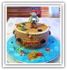 Pesky Eggless Pirate Party Cake... This website is the Pinterest of birthday cake ideas