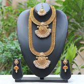 Shop Artificial Pearl Haram Set With Earring by Design Traditional India online. Largest collection of Latest Necklaces online. ✻ 100% Genuine Products ✻ Easy Returns ✻ Timely Delivery