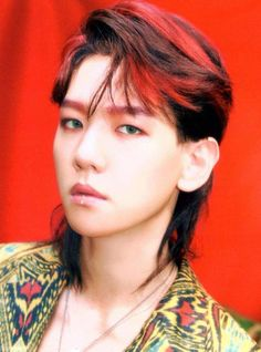 Baekhyun - 170823 'The War' merchandise Credit: LucirChen. Park Chanyeol, Exo Ot9, Chanyeol Baekhyun, Kpop Exo, Kris Wu, Tao, Mullet Hairstyle, Ko Ko Bop, Exo Album