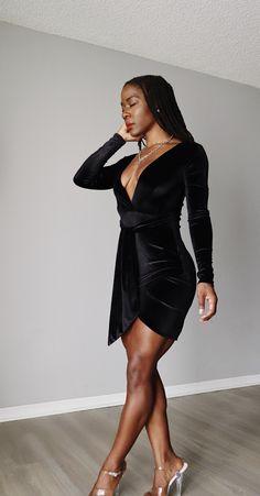 Velvet Holiday Dress by Femme Luxe