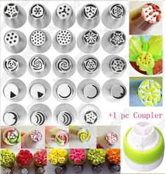 24PCS-Russian-Icing-Piping-Nozzles-Tips-Cake-Decorating-Sugarcraft-Pastry-Tool