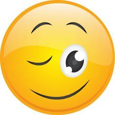 Big-Eyed Wink Smiley