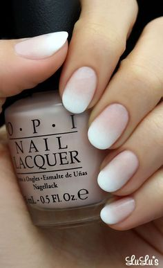 I love the idea of a matte finish on French tips
