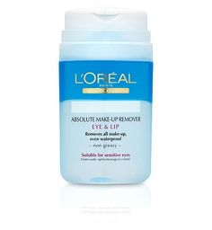 Loreal LOral Paris Dermo-Expertise Absolute Make-Up 12 Advantage card points. Removes all make-up, even waterproof make-up, in a non-greasy formula that is even suitable for sensitive eyes and contact lens wearers. Tested under opthalmological control. http://www.MightGet.com/february-2017-1/loreal-loral-paris-dermo-expertise-absolute-make-up.asp