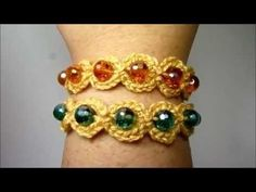 PULSERA CRISTINA Nº 3 DE GANCHILLO - YouTube