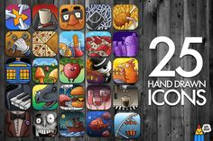 Check out 25 Hand Drawn Icons by Salih Gonenli on Creative Market