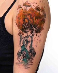 75 ideas and tips for your first or next upper arm tattoo .- 75 Ideen und Tipps für Ihr erstes oder nächstes Oberarm Tattoo – Wohnideen und Dekoration Ideas and tips for your first or next upper arm tattoo mother nature tree and river - Pretty Tattoos, Love Tattoos, Beautiful Tattoos, New Tattoos, Body Art Tattoos, Tattoos For Women, Beautiful Drawings, Tatoos, Beautiful Pictures