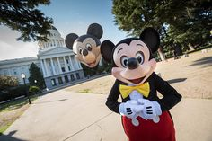 "One week after the launch of the Disneyland Resort Diamond Celebration in Anaheim, Mickey Mouse and the ""Happiest Balloon on Earth"" arrived in Sacramento to celebrate as the California State Senate and Assembly proclaimed today – June 1, 2015 – as ""Disneyland Day!"""