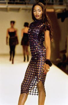 Azzedine Alaïa Fall 1991 Ready-to-Wear Fashion Show - Naomi Campbell (Marilyn)