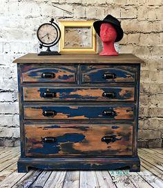 Industrial Distressed Chest of Drawers by StudioTwentysevenCo on Etsy https://www.etsy.com/uk/listing/481689335/industrial-distressed-chest-of-drawers