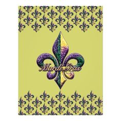 Mardi Gras Fleur De Lis | fleur de lis design filled with mardi gras beads on apparel mardi gras ...