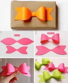 diy paper bow diy crafts craft ideas diy ideas diy crafts crafty easy diy easy craft diy bow craft bow by mavrica Easy Diy Crafts, Cute Crafts, Crafts To Do, Diy Paper, Paper Crafting, Paper Bows, Paper Ribbon, Paper Art, Ribbon Diy
