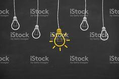 Idea Light Bulb on Blackboard royalty-free stock illustration