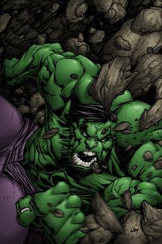 #Hulk #Fan #Art. (Hulk says aaaargh in color) By: Shalomone. ÅWESOMENESS!!!™ ÅÅÅ