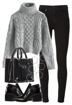 """""""Untitled #2823"""" by london-wanderlust ❤ liked on Polyvore featuring Paige Denim, Chicwish, Balenciaga and Jil Sander"""