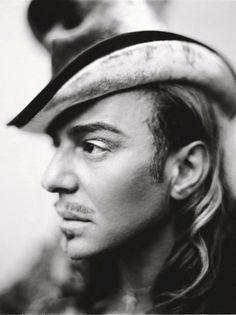 John Galliano (1960) - Gibraltar-born British fashion designer who was the head designer of French fashion companies Givenchy, Christian Dior, and his own label John Galliano - Photo by Paolo Roversi