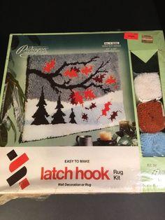 """Vintage NOS Latch Hook Rug Wall Hanging Kit No. K 9280 Paragon 27""""x40"""" LeeWards…"""