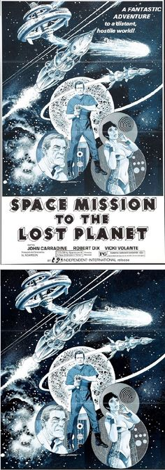 GRAY MORROW - Space Mission to the Lost Planet - 1970 Independent Productions - poster by webringjustice.wordpress - print by tumblr