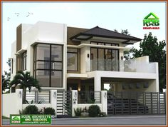 Valerio Residence: Detached home by Angeles Designs , Asian Reinforced concrete Zen House Design, 3 Storey House Design, Two Story House Design, Bungalow House Design, House Front Design, House Plans 2 Storey, Two Storey House, Modern Exterior House Designs, Best Modern House Design