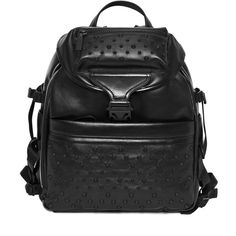 Black Leather Tech Back-Pack