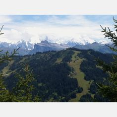 Mont Blanc from Mont Chery