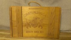 CAVES ALIANCA, Wooden Vintage Wine Box by TheRecycledGreenRose on Etsy