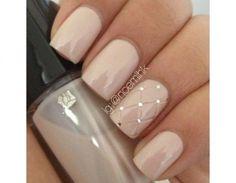 Effetto matelassè per la french manicure
