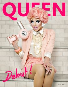 Trixie Mattel, cover of Queen Zine, RPDR7, Corporate Barbie Realness, drag makeup.