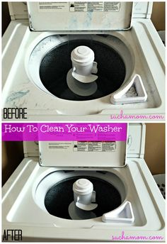 How to clean your washer! This worked great!! I did both the vinegar and the bleach. The washer is super clean!!