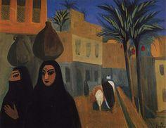 1911 Улица в Каире. К., т. 48.5х64 ГТГ - Сарьян Мартирос Сергеевич