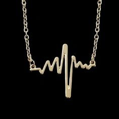 Heartbeat Necklace ❤️ Wear your heart on your sleeve or in this case .. Your heartbeat on your neck! Super cool and trendy pendant. LAST ONE!  Sunsets & Soulmates  Jewelry Necklaces