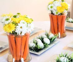 Click Pic for 25 DIY Easter Decorations for the Home - Carrot Centerpiece - Easter Table Decorations