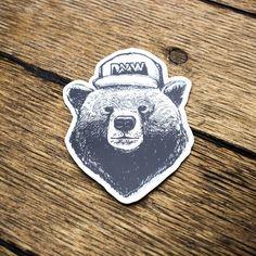 PNW Hat Bear Sticker