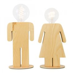 Cult Living Female Solid Wood Bedside or Table Lamp