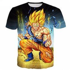 Dragon Ball Super Z 3D Print T-shirt Goku Super Saiyan Tshirt Casual Japanese Popular Anime t shirt