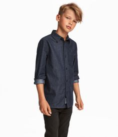 Chemise en coton Shirt in woven cotton fabric with turn-down collar buttons, long front sleeves with Tween Boy Haircuts, Boys Long Hairstyles Kids, Boy Haircuts Short, Cool Boys Haircuts, Little Boy Haircuts, Boy Hairstyles, Formal Hairstyles, Wedding Hairstyles, Modern Haircuts