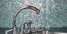 *PICS* iridescent glass mosaic tile backsplash - Ceramic Tile Advice Forums - John Bridge Ceramic Tile