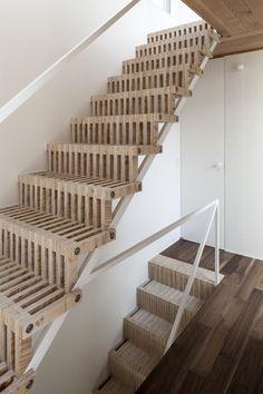Jun Yashiki & Associates 3 is part of Interior stairs - Jun Yashiki & Associates Photograph by Hiroyuki Hirai Basement Stairs, House Stairs, Open Basement, Basement Ideas, Porch Stairs, Tile Stairs, Attic Stairs, Basement Designs, Basement Remodeling