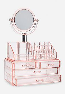 Makeup Kit Necessities Makeup Accessories For Face Rose Gold Room Decor, Rose Gold Rooms, Girl Bedroom Designs, Room Ideas Bedroom, Bedroom Decor, Rangement Makeup, Makeup Storage Organization, Storage Ideas, Organization Ideas