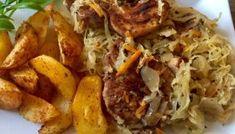 Karkówka pieczona w kapuście Pork Dishes, Pulled Pork, Grilling, Food And Drink, Beef, Chicken, Dinner, Ethnic Recipes, Impreza