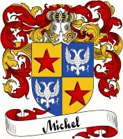Michel Family Crest   VIEW OUR FRENCH COAT OF ARMS / FRENCH FAMILY CREST PRODUCTS HERE