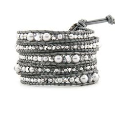 Luxury Silver Pearls Wrap