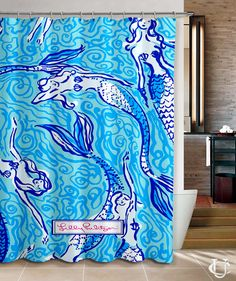 Mermaid lilly pulitzer Lilly custom Shower Curtain